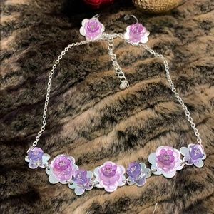 PRETTY & Charming-lavender-necklace/earrings #A369